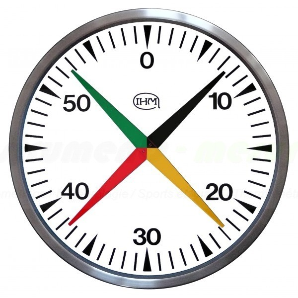 Compte secondes cruciforme murale chronometre piscine